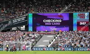 Red Checking Var Checking Red Card Editorial Stock Photo Stock Image