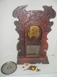 Kitchen Mantel Rare Antique New Haven Gingerbread Kitchen Mantel Clock Winged