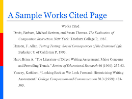 Example Works Cited 5 6 Example Of A Works Cited Page Cvideas