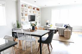 this family room space is full of both round and straight lines the perfect