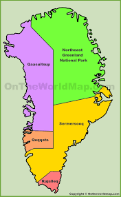 administrative map of greenland