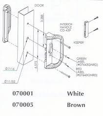 sliding patio door handles 6 5 8 spacing