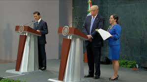 donald trump defends u s right to build a border wall during mexican