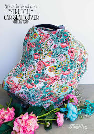 stretchy baby car seat cover pattern tutorial