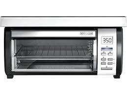 black decker tros1000d space maker digital toaster oven stainless steel black