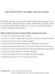 Medical Office Front Desk Jobs – Resume Sample Collection