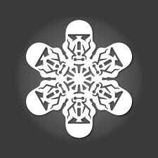 Snowflake Patterns New DIY 'Rogue One A Star Wars Story' Paper Snowflake Patterns For The