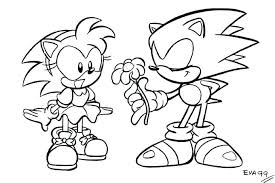 Sonic Coloring Sheets Sonic And Coloring Pages Online To Print Sonic