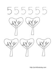Free Printable Valentine themed Math Worksheets 1-10