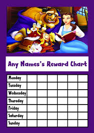 Beauty The Beast Star Sticker Reward Chart