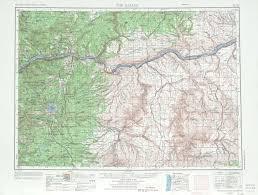 the dalles topographic maps or wa  usgs topo quad a at
