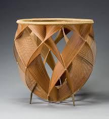 furniture made of bamboo. shono shonsai basket from exhibition furniture made of bamboo