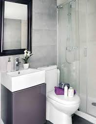 Awesome Interior Design of a Small 40 Square Meter Apartment : Small 40  Square Meter Apartment With White Purple Bathroom Wall Mirror Wash Basin  Storage ...