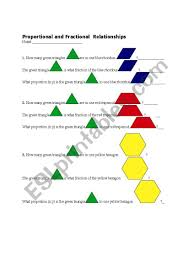 Pattern Block Fractions Amazing Decoration