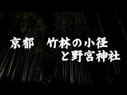 京都 竹林の小径と野宮神社 Youtube