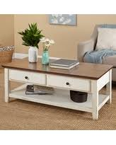 Elegant Simple Living Charleston Coffee Table (Coffee Table), Beige Off White Amazing Design