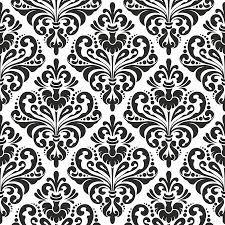 black and white floral wallpaper pattern. Exellent And Black And White Seamless Damask Wallpaper Pattern Stock Vector  14166563 On And White Floral Wallpaper Pattern L