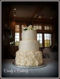 13 Elegant Wedding Cakes Buttercream Rosettes Photo Elegant