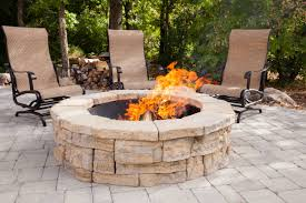 round brick fire pit kit round designs for perfect circular fireplace