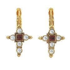 cross earrings catholic jewelry