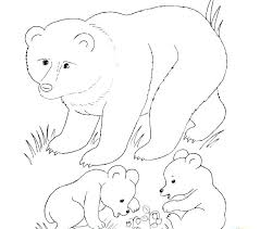 Free Coloring Pages Of Brown Bears Carriembeckerme