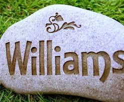 engraved garden stones. Custom Garden Stone / Medium Large - Hand Engraved Natural River Rock Stones T
