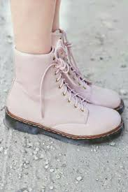 Light Pink Doc Martens Baby Pink Docs Pink Boots Boots Combat Boots