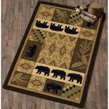 surprising lodge area rugs exciting strikingly design ideas nice pine cone rug home