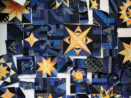 starry night quilt | WOMBAT QUILTS & ... Starry Night quilt. design wall Adamdwight.com