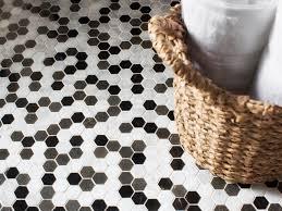 Hexagon Tile Floor Patterns Choosing Bathroom Flooring Hgtv