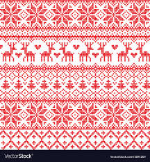 Nordic Pattern Interesting Traditional Red Nordic Pattern Royalty Free Vector Image