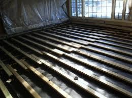 wood floor installation go green floors eco friendly wood floor over concrete basement