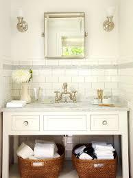 Subway Tile Backsplash Cottage Bathroom BHG Best Tile Backsplash In Bathroom