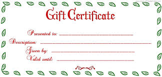 Holiday Certificates Barca Fontanacountryinn Com