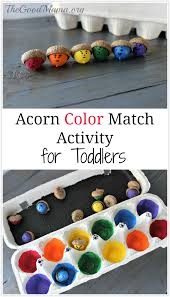 Acorn Color Match Activity For Toddlers The Good Mama Colour Ideas For ToddlersllL