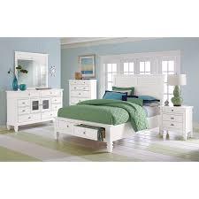 Queen Bed Bedroom Set Charleston Bay White Ii Bedroom Queen Storage Bed American