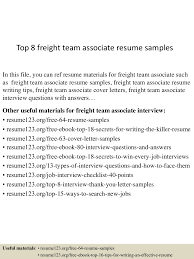 Sample Freight Team Associate Resume top224freightteamassociateresumesamples224lva224app622492thumbnail24jpgcb=224243224522406249 1