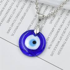 vintage glass turkey blue eyes pendant necklace for men women fashion jewelry