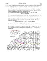 Sensible Heat Ratio Psychrometric Chart Me 441 Homework Solutions Set 3 E6