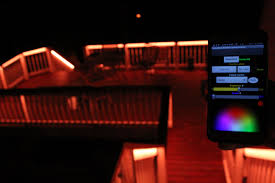 Led strip deck lights Turquoise Famousmods Led Deck Lighting Kits Are Both Iphone And Android Compatible Lighting Shine Dont Forget Famousmods Led Deck Lighting Kits Are Both Iphone And