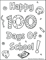 100 Days Of School Coloring Pages Pleasant Design Day Coloring ...