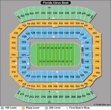 Pro Bowl 2018 Seating Chart Camping World Stadium Seat Map World Maps