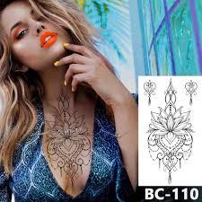 1 List Hrudi Body Art Tetování Vodotěsné Dočasné Tetování šperky