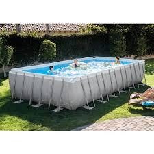 rectangle above ground pool sizes. Intex 24\u0026apos; X 12\u0026apos; 52\u0026quot; Ultra Frame Rectangular Above Ground Swimming Pool Rectangle Sizes
