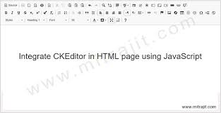 Integrate CKEditor in HTML page using JavaScript - Mitrajit's Tech Blog