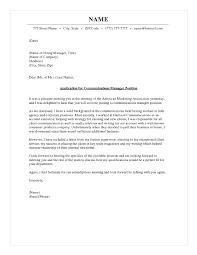 Newsletter Cover Letter Communications Manager Cover Letter
