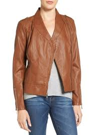 guess faux leather moto jacket regular petite