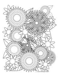 Small Picture Symmetrical Blooms Adult Coloring Page Delfyn Studios