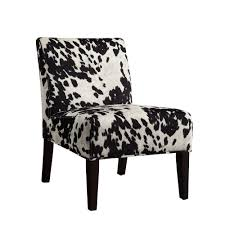 homesullivan black cowhide accent chair