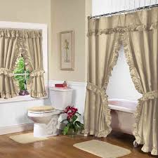 double swag shower curtains double swags with liner altmeyers shower curtains with valance and tiebacks